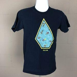 Volcom Men's T-shirt Size S Blue RJ20